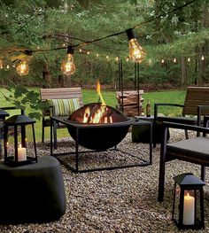 Cheap and easy backyard fire pit and seating area (36)