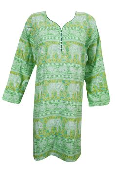 Indiatrendzs Women Animal Print Green Rayon Full Sleeve Long Kurta 46"