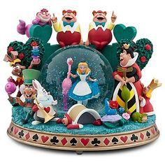Alice in Wonderland croquet match snowglobe