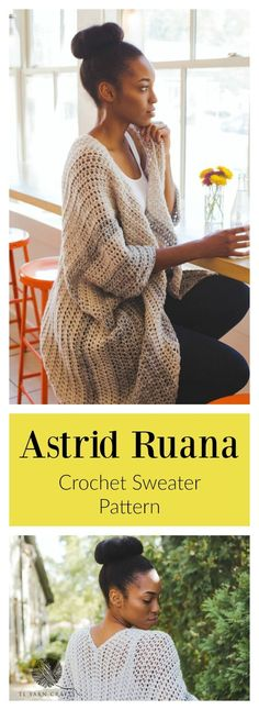 Easy and straightforward crochet pattern for the cozy Astrid Ruana. Play with colors to make this garment all your own. Find this and more patterns in the TL Yarn Crafts Etsy Store.