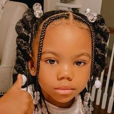 Little Girls Natural Hairstyles, Lil Girl Hairstyles, Black Kids Hairstyles, Kids Braided Hairstyles, Easy Natural Hairstyles, African Hairstyles For Kids, Beautiful Hairstyles, Kid Braid Styles, Little Girl Braid Styles