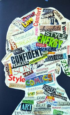 Word art silhouette 7th grade lms art wooley