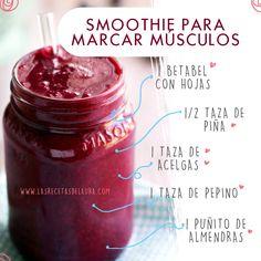 Jugo o smoothie para marcar los músculos, receta fácil