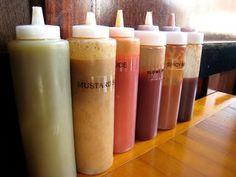 homemade condiments = no sugar or chemicals. Super easy recipes too!!