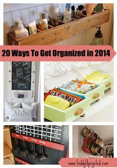 20 Ways to Get Organized in 2014 - Awesome Storage Ideas!