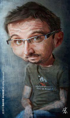 Caricatura de Jordi Evole.
