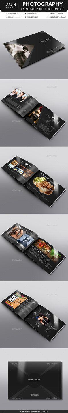 Photography Brochure Template PSD #design Download: http://graphicriver.net/item/photography-brochure/14405552?ref=ksioks