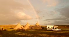 A trio of Tipis at the end of this rainbow! #Tipis #Cumbria