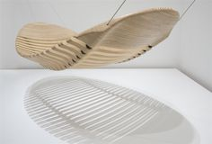 "Flexible, stacked-plywood ""hammock"" by designer Adam Cornish."