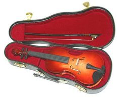 Miniature Violin with Case *** Continue to the product at the image link.Note:It is affiliate link to Amazon.