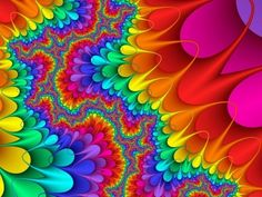 Colorful Rainbow Design PPT Backgrounds