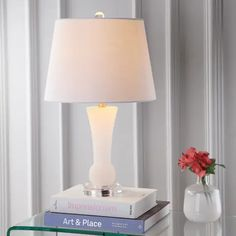 Table Lamps | Find Great Lamps & Lamp Shades Deals Shopping at Overstock White Table Lamp, Light Table, Lamp Light, Table Lamps, Light Bulb, Style Glam, Vases, Alabaster Stone, Alabaster Lamp