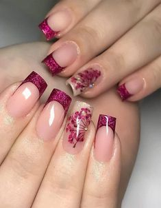 2019 Beautiful Nail Trends Right Now - Fashion Insider Stylish Nails, Trendy Nails, Toe Nails, Pink Nails, Different Color Nails, Luxury Nails, Long Acrylic Nails, Pretty Nail Art, Manicure E Pedicure