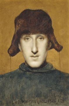 Louis Welden Hawkins (Germany 1849-1910 France), Portrait of a Young Man…