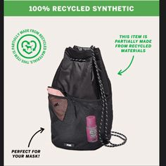 New Victoria's Secret PINK Drawstring Bag Backpack Bags, Drawstring Backpack, Pink Backpacks, Victoria S, Vs Pink, Fashion, Moda, Fashion Styles, Fashion Illustrations