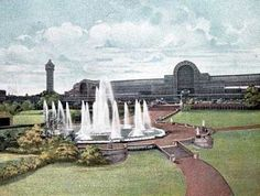 the great fountains crystal palace Exhibition Building, Exhibition Space, Vintage London, Old London, Crystal Palace, Hyde Park, London History, Local History, Victoria And Albert