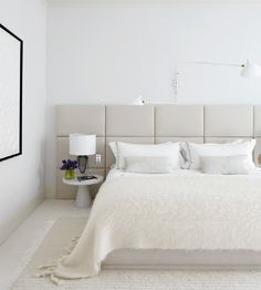 Headboard - similar to another...I like that the bed is low and the headboard goes to the floor