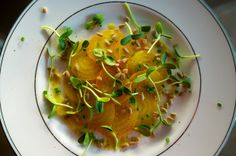 Yellow Beet Carpaccio with Sunflower Sprouts from Food52