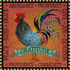 Art Print: Gratitude | Sarah Hudock's Lighthearted Art