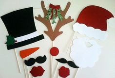 Photo Booth Props - Christmas 11 Piece Kit