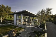 Barton Myers Associates designed a #home located in the hills above Montecito, California.