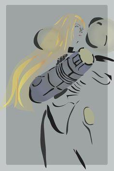 Metroid Samus Aran minimalist poster