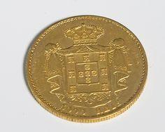 Moeda em Ouro antiga de 5.000 REIS