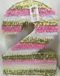 Large Number Two Pinata Second Birthday Pinata by Theperfectpinata
