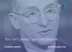 "#quote from Howard Marks, co-founder of Oaktree Capital. ""You can't predict, you can prepare."" Marks wrote in 2001 about the difficulty of predicting the future. Instead of trying to predict the future, he argues that it's better to think about where we are in the bull / bear market cycle. And prepare accordingly. Do you know where we are in this bull market?  Do you have a favourite quote from a famous investor or stock market pundit? We'd love to hear it.  #stocks #investing #trading"
