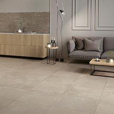 Dalle de sol Dom Ceramiche Comfort R Sand x cm Sand Floor, Tile Floor, Scandinavian Bedding, Grey Painted Walls, Sconces Living Room, Limestone Tile, Dreams Beds, Wall Molding, Polished Concrete