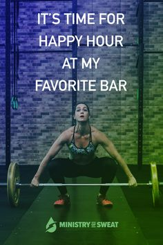 Daily Fitness Motivation: It's time for happy hour at my favorite bar. #fitness #workout #gym #crossfit #fitnessmotivation #workoutmotivation
