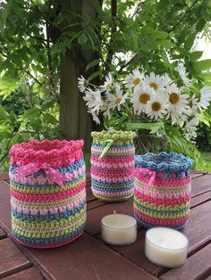 ergahandmade: Crochet Jar Cover + Free Pattern Step By Step