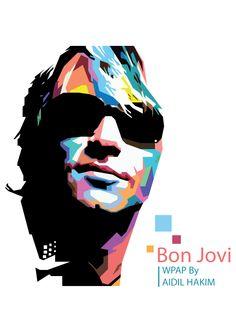Bon Jovi on WPAP by budillustrator on DeviantArt Pop Art Portraits, Portrait Art, Nice Things To Draw, 40th Bday Ideas, Celebrity Drawings, Top Celebrities, Guitar Art, Jon Bon Jovi, Figure It Out