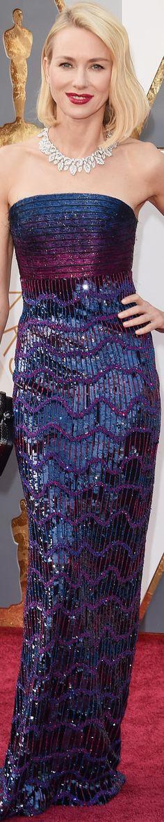 Naomi Watts wearing Armani Prive at the 2016 Oscars