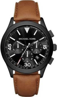 c6fd4f3e1cb8 Michael Kors Gareth MK8450 Black Ion Plated Stainless Steel with Black Dial  43mm Mens Watch Best