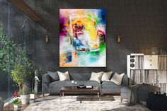 Large Abstract Painting,Modern abstract painting,painting colorful,abstract canvas art,original abstract,large textured art FY0087