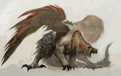 Harpy Dog Monster from Guild Wars Nightfall