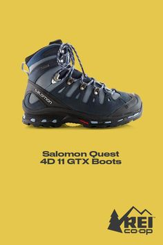 19f6ae406b0871 The Salomon Quest 4D II GTX hiking boots blend trail-running shoe  technology with a