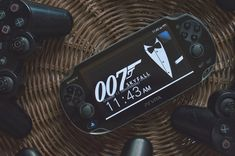 Black Psvita With 007 Skyfall Wallpaper  Free Stock Photo