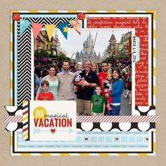 https://flic.kr/p/q7c81z | Disney Magic Kingdom PG 1 | Universal Album by Cindy Schneider Project Mouse: The Basics by Sahlin Studio and Brittish Designs Layered Cards: Vacation by Cindy Schneider