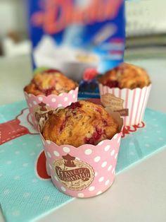 Ricetta+dei+muffin+ai+lamponi+con+Dietor+blu