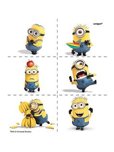 Despicable Me  Minions - These are tattoos you can order, but there are a lot of things you could  do by printing these!
