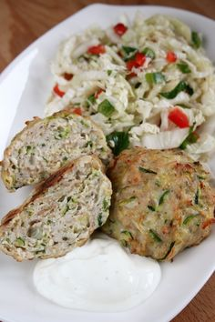 chops-with-turkey-with-zucchini-fit-baked - Fit Russian Dishes, Man Food, Polish Recipes, Zucchini, Food And Drink, Lunch, Healthy Recipes, Dinner, Cooking