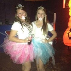 Cute college Halloween costume! Toddlers and tiaras. Under $15!!