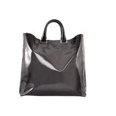 Prada - PRADA Spazzolato Sfumato Tote Grey Ombre Shopper Tote Bag ❤ liked on Polyvore