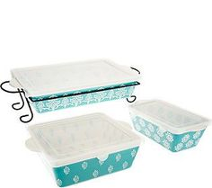 Cook's Essentials Madison 4 pc. Bakeware Set with Lids