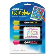 Who told you you couldnt write on windows? Expo window markers to the rescue :)
