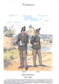Band XIII #33.- Nassau. Jäger-Bataillon. 1857-1864.
