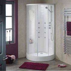 Inspirational bathrooms at affordable prices. Buy your dream bathroom suite online. Shower Enclosure, Sauna Design, Cabin Design, Doorless Shower, Shower Cabin, One Room Cabins, Steam Showers, Cabin Rooms, Bathroom Design