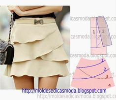 Tremendous Sewing Make Your Own Clothes Ideas. Prodigious Sewing Make Your Own Clothes Ideas. Skirt Patterns Sewing, Clothing Patterns, Skirt Sewing, Fashion Sewing, Diy Fashion, Fashion Tips, Costura Fashion, Diy Kleidung, Diy Clothing